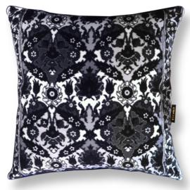 Sofa pillow Black-grey-white velvet cushion cover BLACK TEA