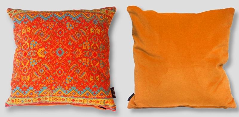 orange cushion,orange pillow,orange oriental pillowcase