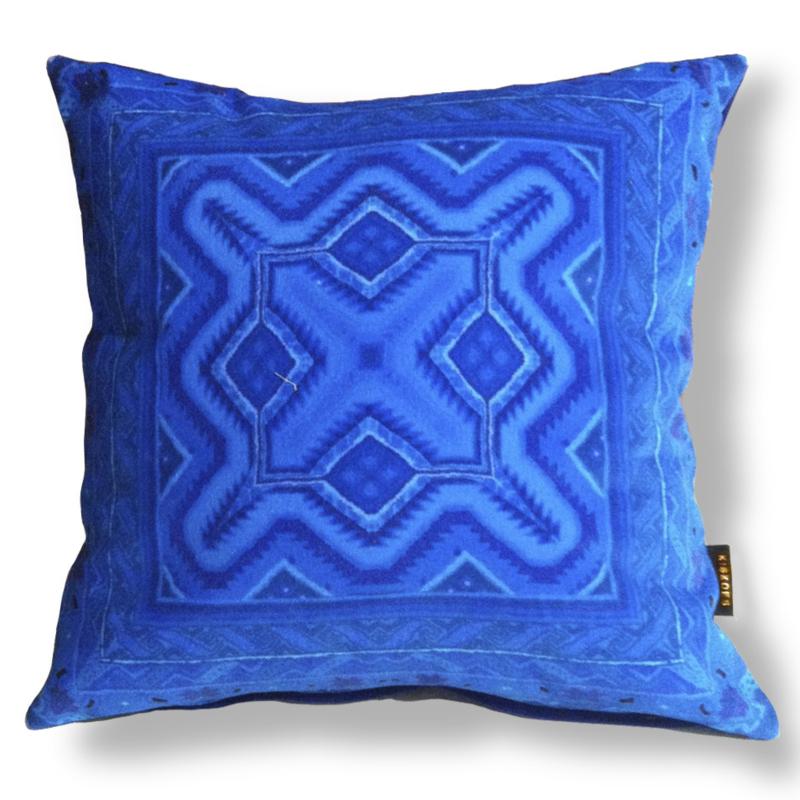 Sofa pillow Blue velvet cushion cover DEEP SEA