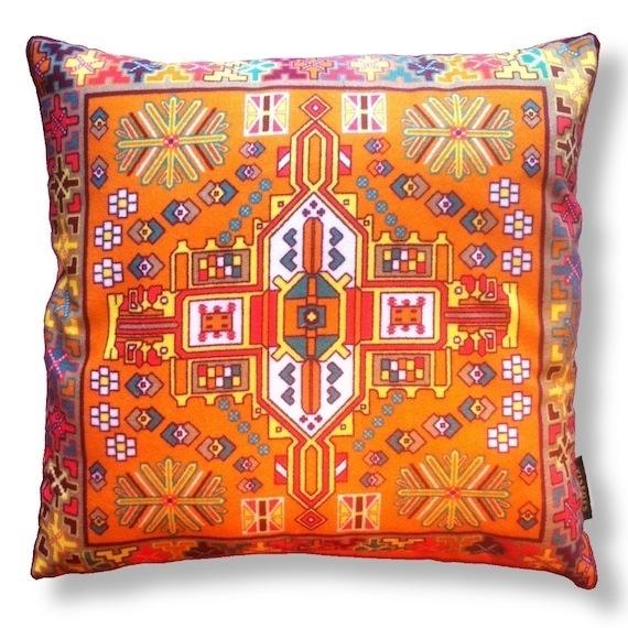 Sofa pillow Orange velvet cushion cover HOLLAND