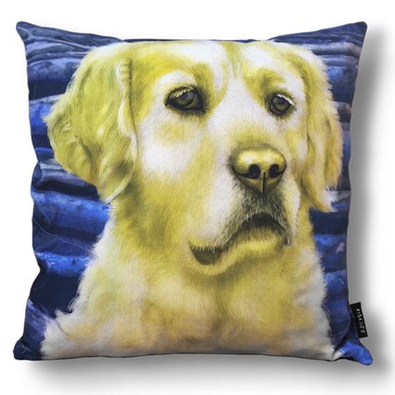 Dog throw pillow GOLDILOCKS velvet pillow case
