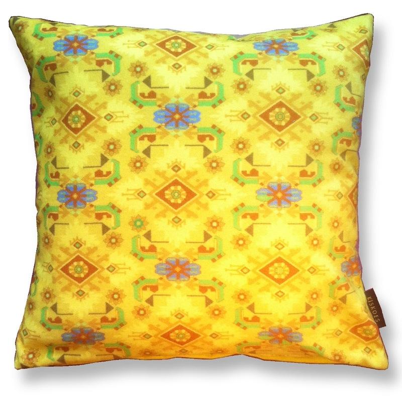 Sierkussen Geel fluwelen kussenhoes KANARIE