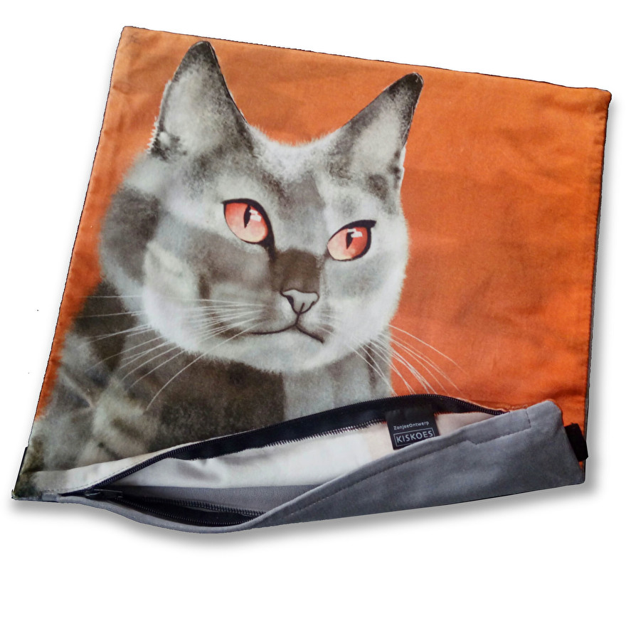 velvet cat cushion cover