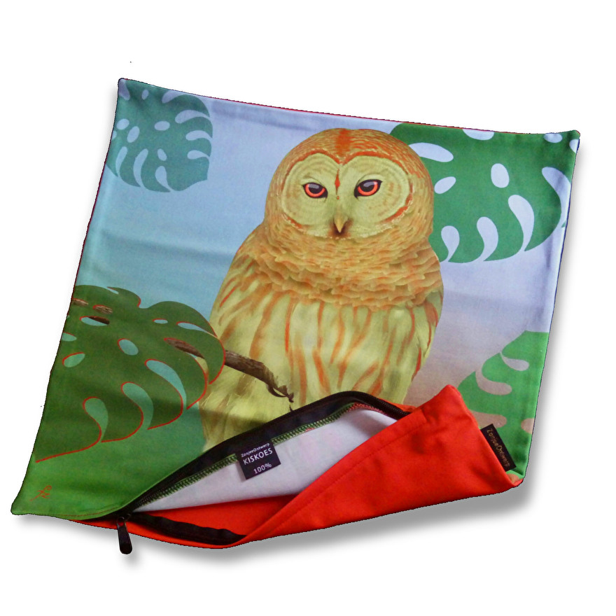 cotton cushion cover owl