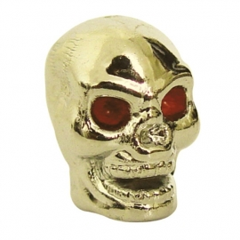 TrikTopz - Valve Caps - Golden Skulls with Red Eyes