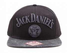 Jack Daniel's - Snapback Cap - Adjustable  - Embroided Grey Lettres  ON the hat- Grey Washed