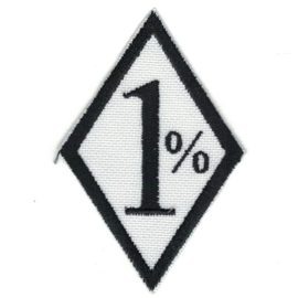PATCH - Diamond - 1 % - One Percenter (white) - 1%