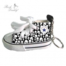 KEYCHAIN - Rock Daddy - Little All Star Look-alike with Skull Design
