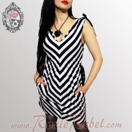 Vixxsin - Black/White Mirror Dress - Poizen Industries