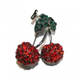 BlingBling Cherry Brooch