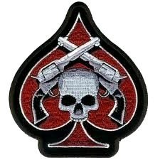 PATCH - Ace Of Spades with Pistols Skull