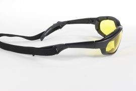 KICKSTART by KD's - FREEDOM - Wrap-Style Padded Sunglasses - Yellow