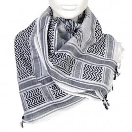 PLO Scarf - Arafat Shawl - Black & White - Burning Dice