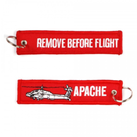 Embroided Keychain - REMOVE BEFORE FLIGHT - APACHE
