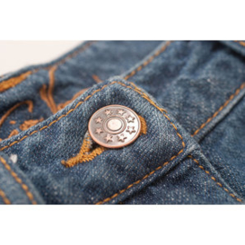 Denim / Jeans Buttons - Set of 8 - Old Copper - Stars