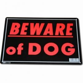 Light Metal Plate / Tin Sign - Beware Of Dog