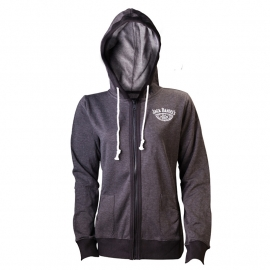 Jack Daniel's - Hoodie with Zipper - Grey - Lady Fit