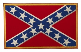 PATCH - Rebel Flag with big Stars