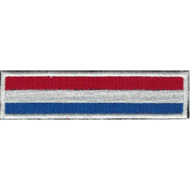 WHITE PATCH - STICK - Dutch flag - HOLLAND - the Netherlands - Nederland