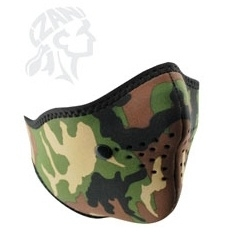 ZAN HeadGear - Woodland Filtered Half / Face Mask