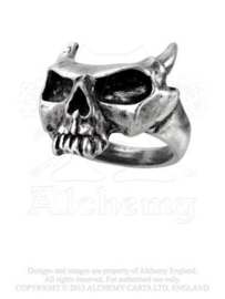 Alchemy England - RING - Sixt Seal - Mask of the Devil - Skull with Horns