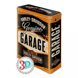 Harley-Davidson - Tin Storage Box - Garage