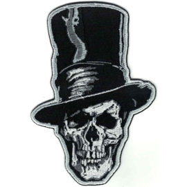 PATCH - Skull with tophat - Going well dressed to the funeral