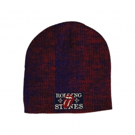 Knitted Beanie with Patch - The Rolling Stones