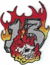 015 - PATCH - Flamed 13 and Skull