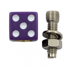 TrikTopz with License Plate Mounts - Valve Caps - Purple Dice