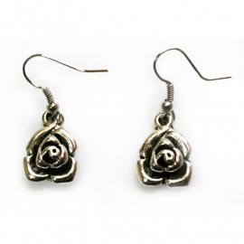 Earrings with Little Roses