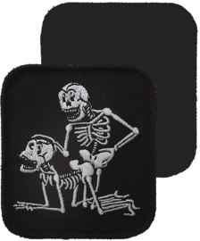 057 - VELCRO PATCH - Black - Skeletons in Doggy-Style