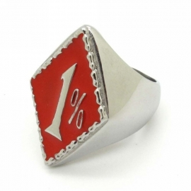 1% - One Percenter Ring - RED