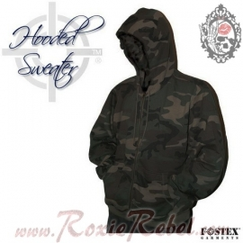 Kosumo - Hoodie with Zipper - Night Camouflage