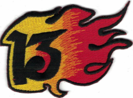 022 - PATCH - Burning Thirteen - 13 with Flames