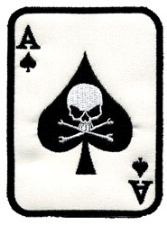 PATCH - Ace of Spades Card