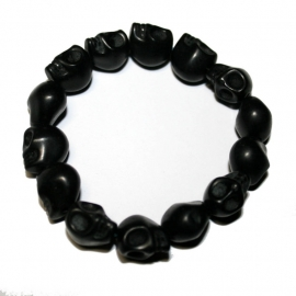 Playful Skull bracelet (black)
