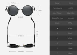 Rebel Sunglasses - Steampunk - Black & Grey