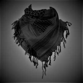 PLO Scarf - Arafat Shawl - Grey-Black - Night