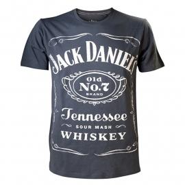 Jack Daniel's - T-Shirt - Vintage Grey - Original Big Classic Logo
