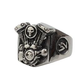 V2 Engine Ring - Skull detail