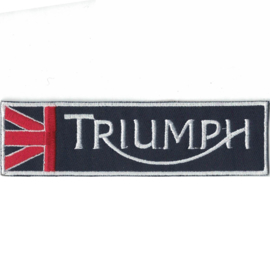 PATCH - triangle - TRIUMPH with Union Jack