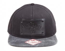 Jack Daniel's - Snapback Cap - Adjustbale - Black Square Metal Plate