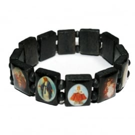 Holy Saints bracelet (black)
