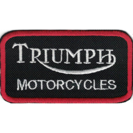 PATCH - TRIUMPH MOTORCYCLES - red square