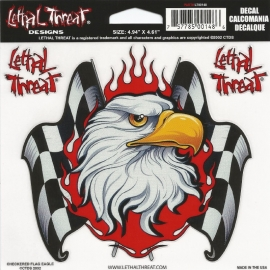 Lethal Threat - Checkered Flag Eagle - DECAL - STICKER