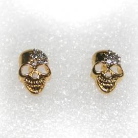 Golden Skull earstuds