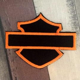 PATCH - HD - Plain BAR & SHIELD - ORANGE