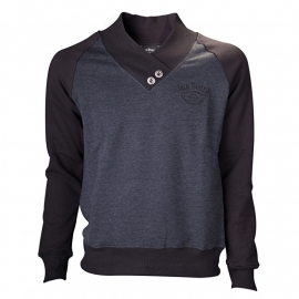 Jack Daniel's - Sweater - V-Neckline - Grey - Classic Small Logo on the Back