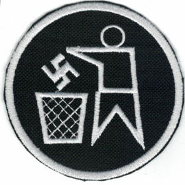 PATCH - Nazi Swastika is Garbage - Nazis are Trash!
